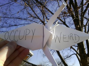 Occupy Greensboro origami art