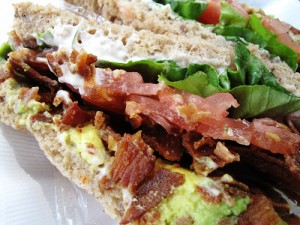 BLT with avocado and herbed mayo.