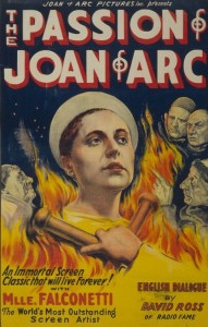 Silent Film Joan of Arc poster