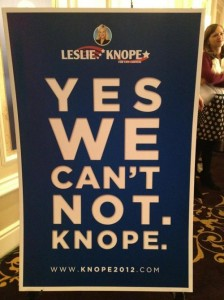 Yes we can't not. Knope.